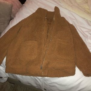 Tan Fuzzy Jacket
